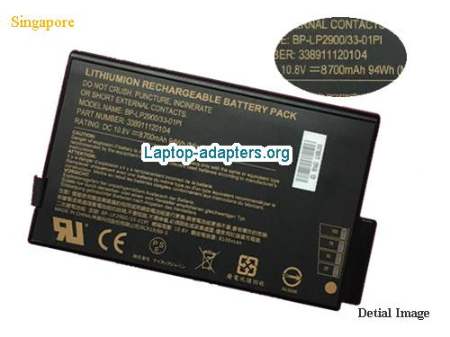 GETAC 338911120104, BP-LP2900/33-01PI, BP-LP2900/33-01P1 Battery